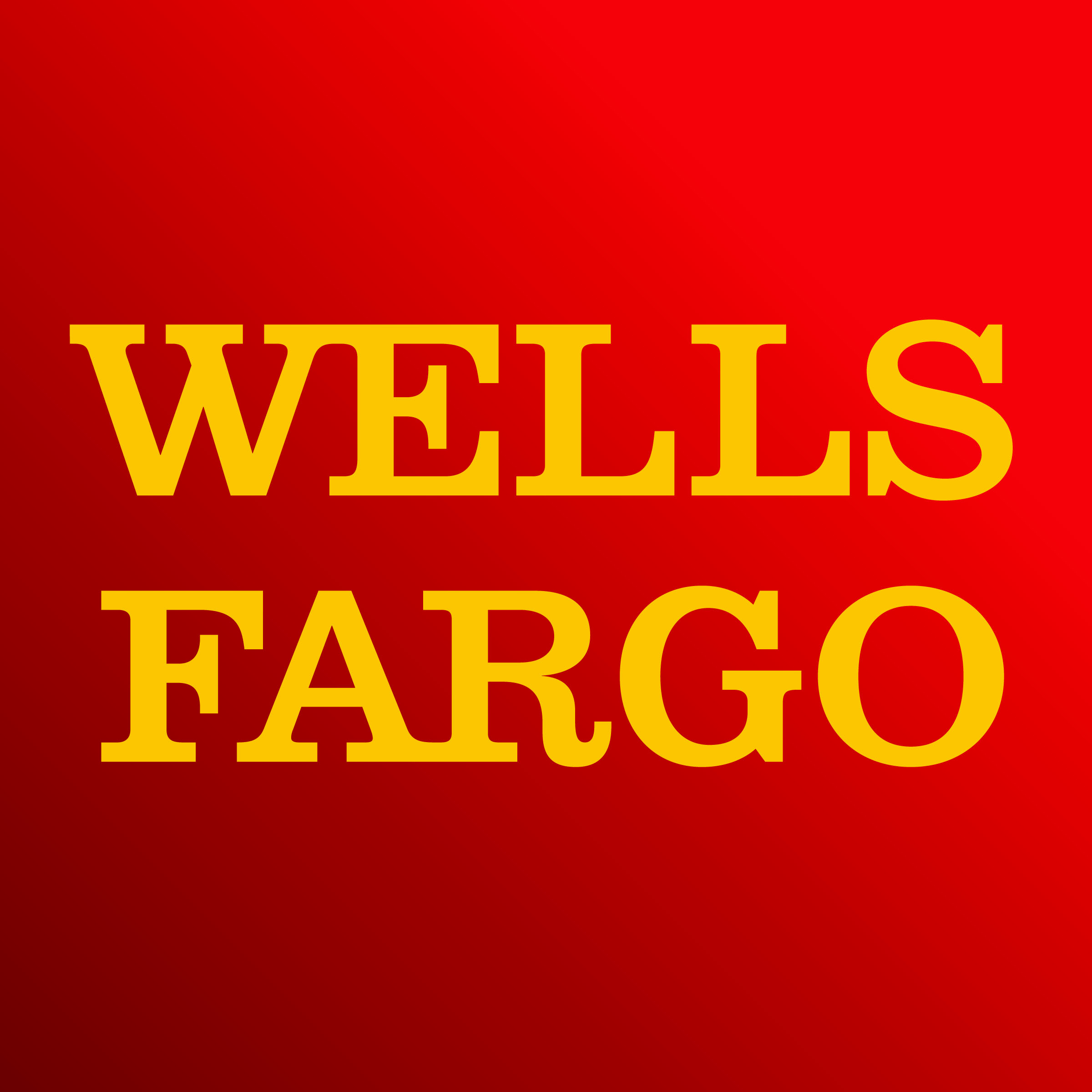 Red Square with Wells Fargo yellow logo